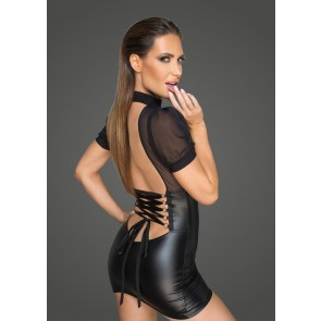 Wetlook Minidress with Tulle Top