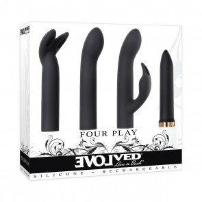 FOUR PLAY LUXURY RECHARGEABLE BULLET SET