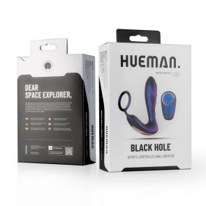 HUEMAN - Black Hole Anal Lock Remote Controlled Prostate Vibrator & Cock Ring