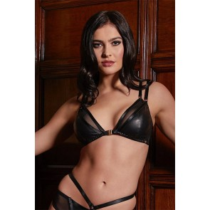 Something Wicked Mia Handmade Leather Soft Cup Bra