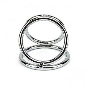 Bound to Please Metal Triple Cock and Ball Ring