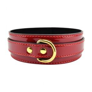 Bound to Please Patent Red Bondage Collar