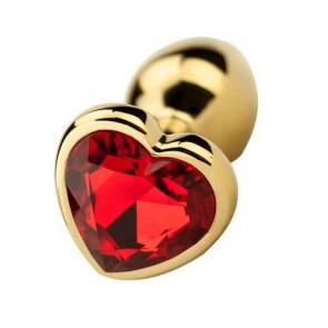 Precious Metals Gold Heart Shaped Butt Plug