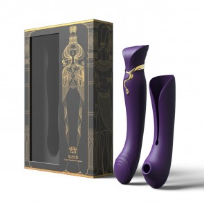 ZALO - Queen Set G-Spot Pulsewave Suction Warming Vibrator - Twilight Purple
