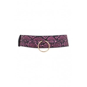 REGALIA PURPLE SNAKE RING DETAIL BELT