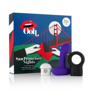 San Francisco Night - Butt Plug & Cock Ring Vibrator Pleasure Kit