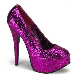 Teeze: Glitter Platform Court Shoe