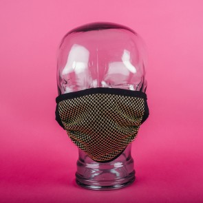 Gold Fishnet Washable 3PLY Facemasks