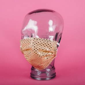 Gold Sparkle Washable 3PLY Face Mask