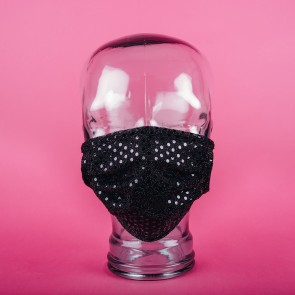 Black Sparkle Washable 3PLY Facemasks