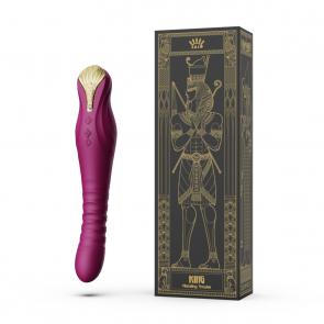 ZALO - King Vibrating G-Spot Thruster - Velvet Purple