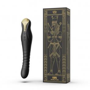 ZALO - King Vibrating G-Spot Thruster - Obsidian Black