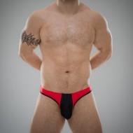 SUKREW Full Thong in Red & Black