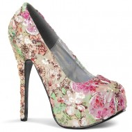 Teeze: Pink Mult-Floral Fabric Shoe