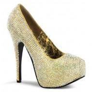 Teeze: Stiletto Rhinestone Court Shoe